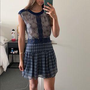 BCBG printed mini dress